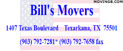Bills movers - Household moving company