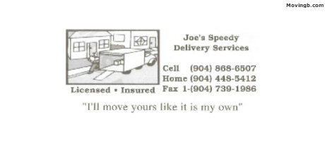 Joes Speedy delivery - Florida Movers