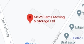 Address of Mcwilliams moving company Peterborough
