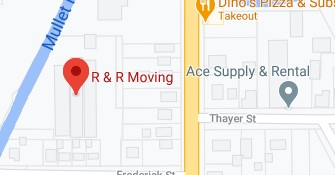 Address of R and R moving company Playmouth WI