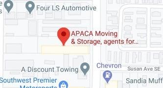 Address of Apaca moving company Albuquerque NM