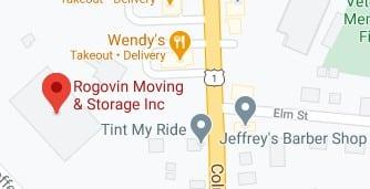 Address of Rogovin moving company New London CT