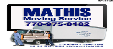 Mathis moving services - Movers in Roswell