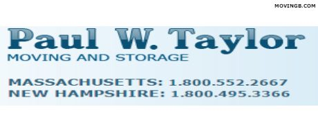 Paul W Taylor Moving - Moving Services