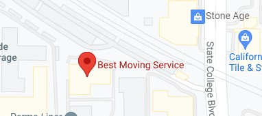 Address of Best moving service CA