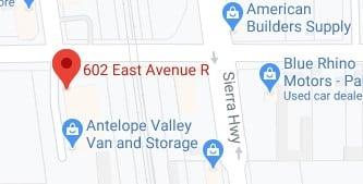 Antelope vally van and storage address
