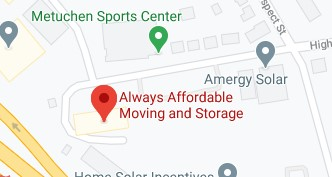 Address of Always affordable moving company Metuchen NJ