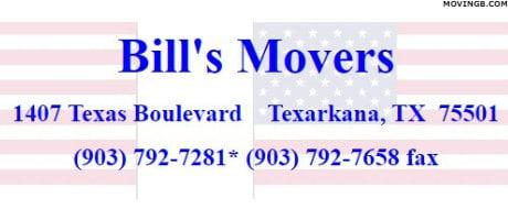 Bills Movers - Moving Company in Texarkana TX
