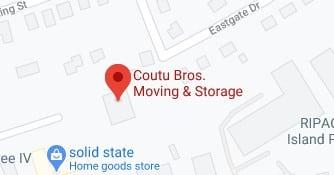 Address of Coutu bros movers company Warwick RI