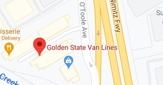 Address of Golden state moving company San Jose CA