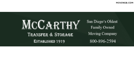 McCarthy transfer - San Diego Movers