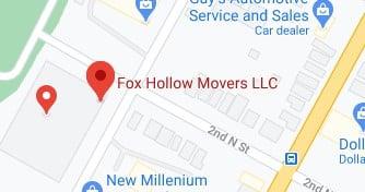 Address of Fox hollow movers company Syracuse NY