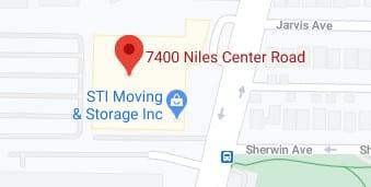 Address of STI moving and storage company Skokie IL