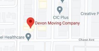 Address of Devon moving company Skokie IL