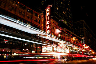 Night life in Chicago