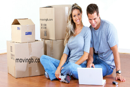 Couple asking moving quote online