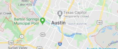 City map of Austin TX