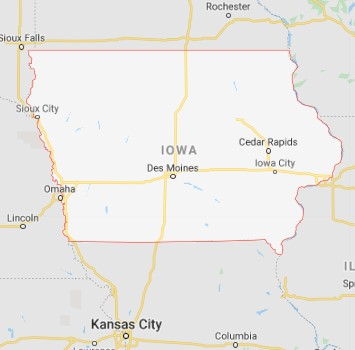Iowa state maps and movers