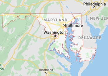 Maryland state map and movers