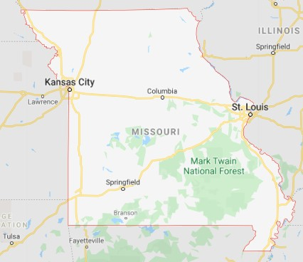 Missouri state map and movers