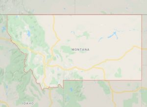 Montana state map and movers