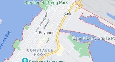 Map of Bayonne City NJ