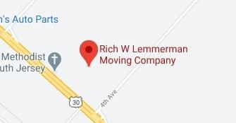 Address of Rich W Lemmerman moving company NJ