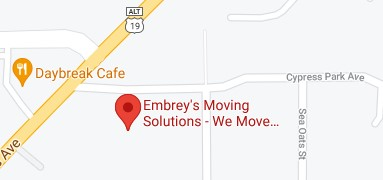 Address of Embrey's moving solutions FL