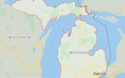 Michigan state map and movers