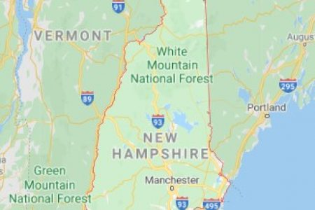 New Hampshire state map and movers